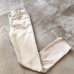 White jeans from Gap Kids.